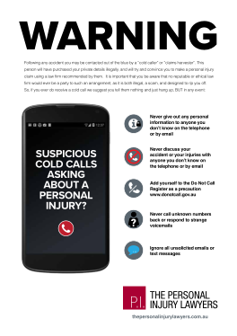 cold call warning infographic
